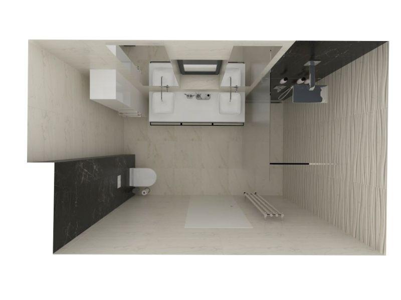 Návrh malé koupelny 26