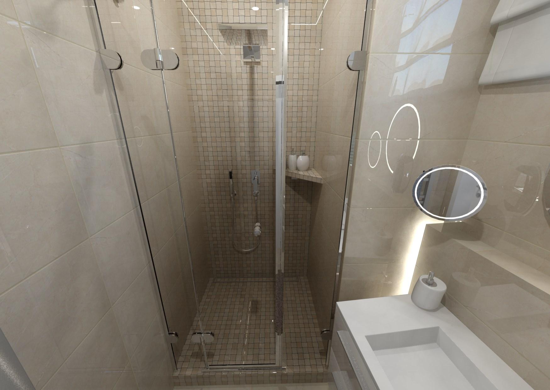 Návrh malé koupelny 1