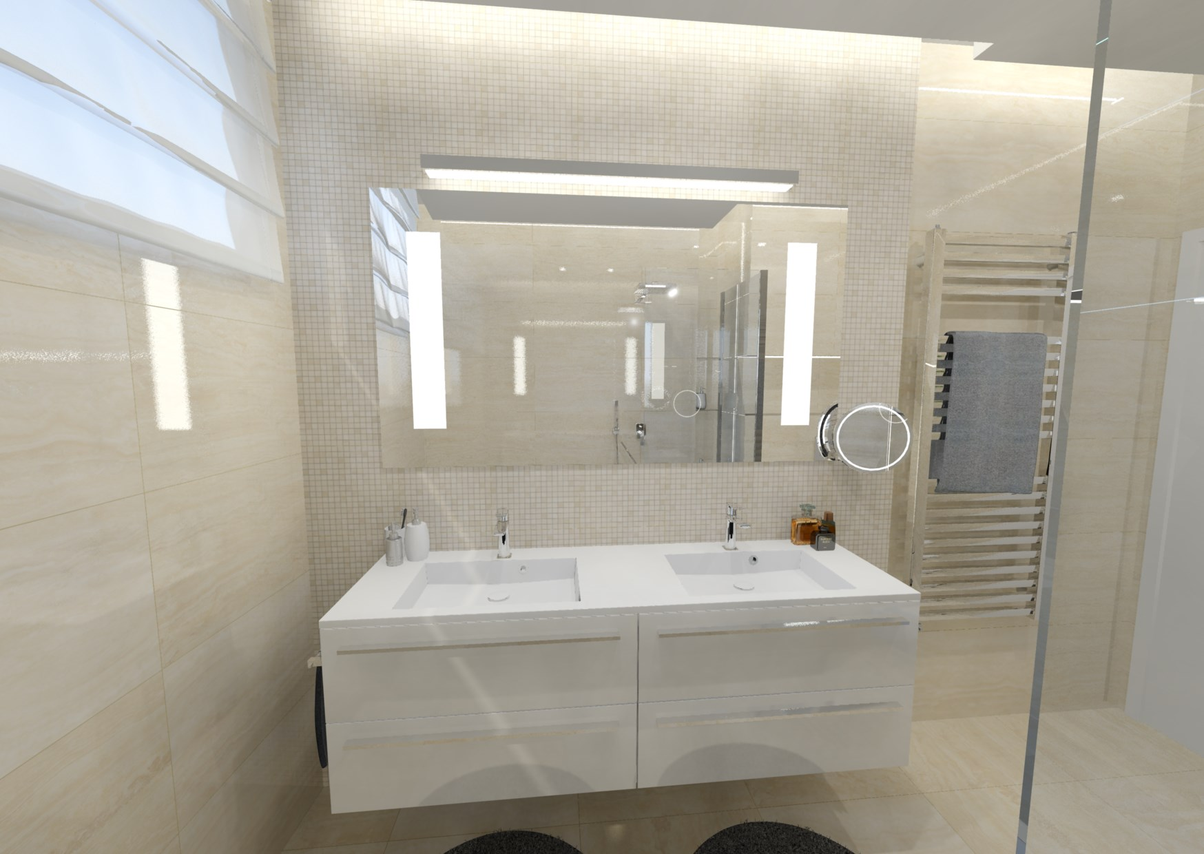 Návrh malé koupelny 4
