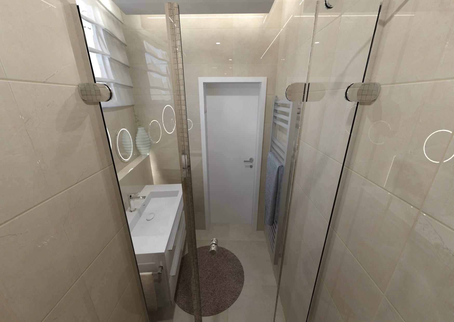 Návrh malé koupelny 5