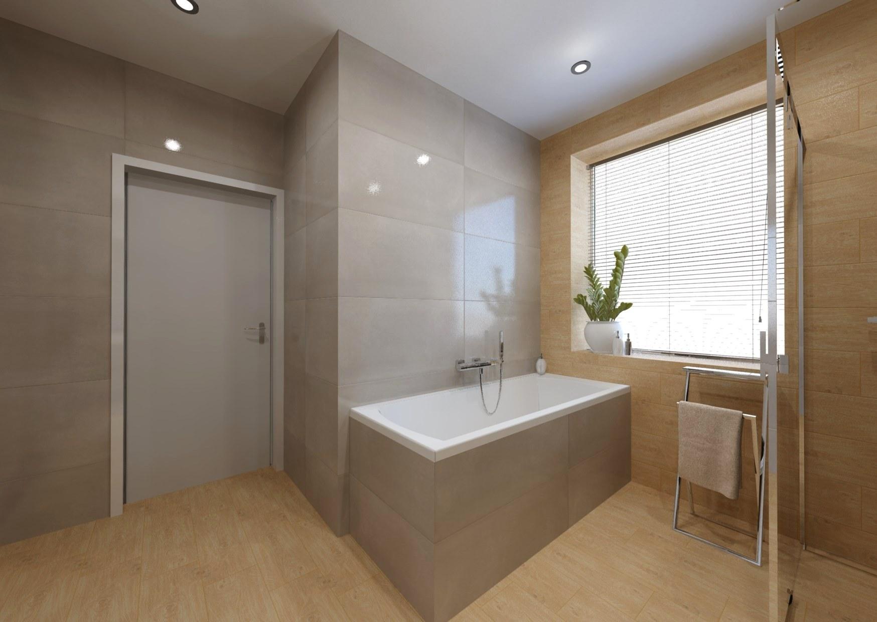 Návrh koupelny se sprchovým koutem a vanou 5