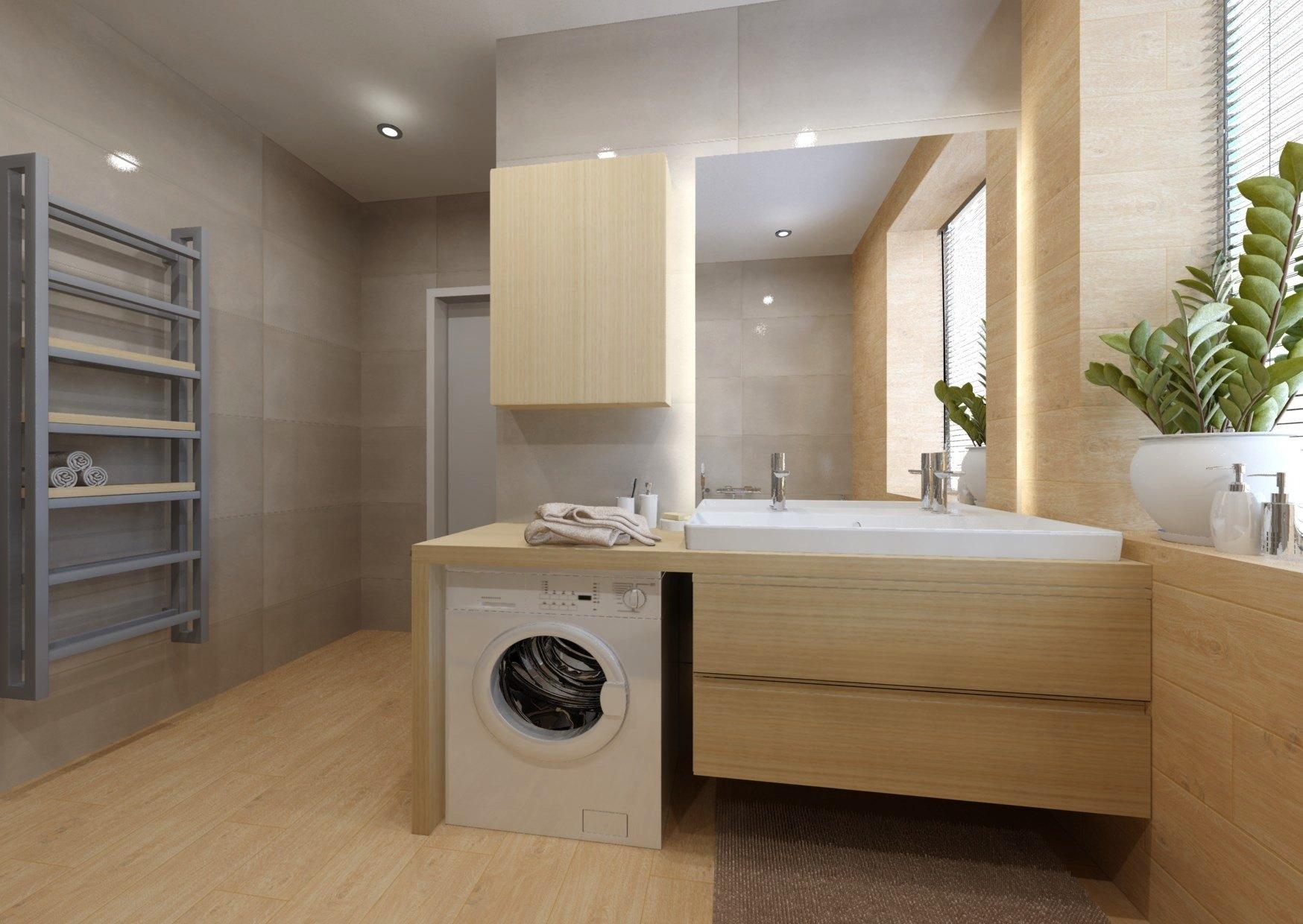 Návrh koupelny se sprchovým koutem a vanou 8