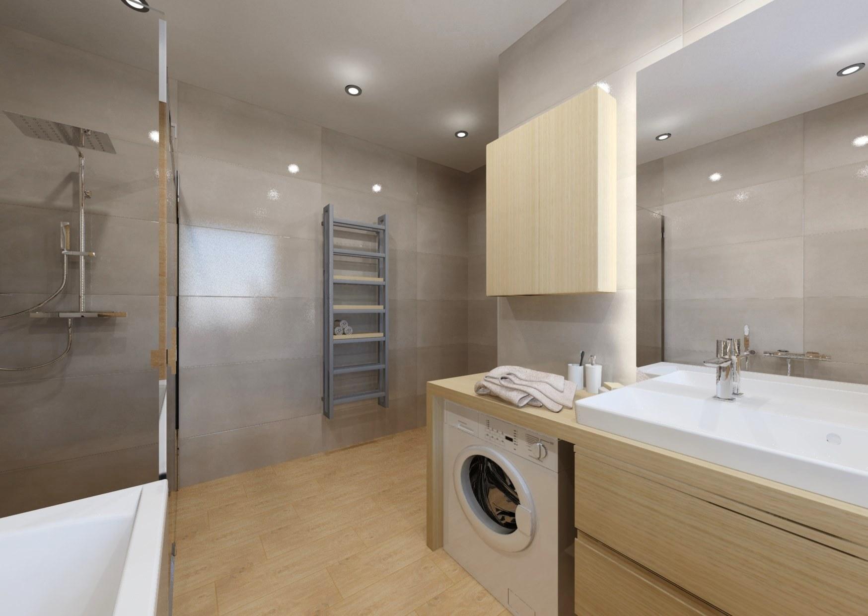 Návrh koupelny se sprchovým koutem a vanou 9