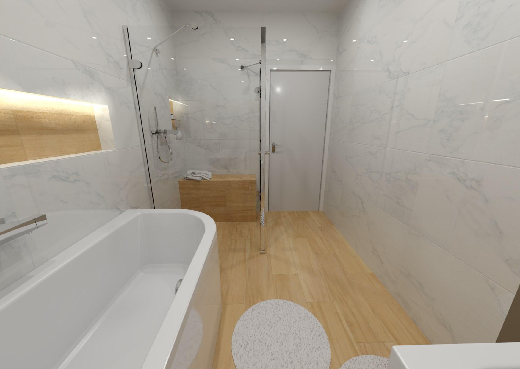 Návrh koupelny s nikou 2