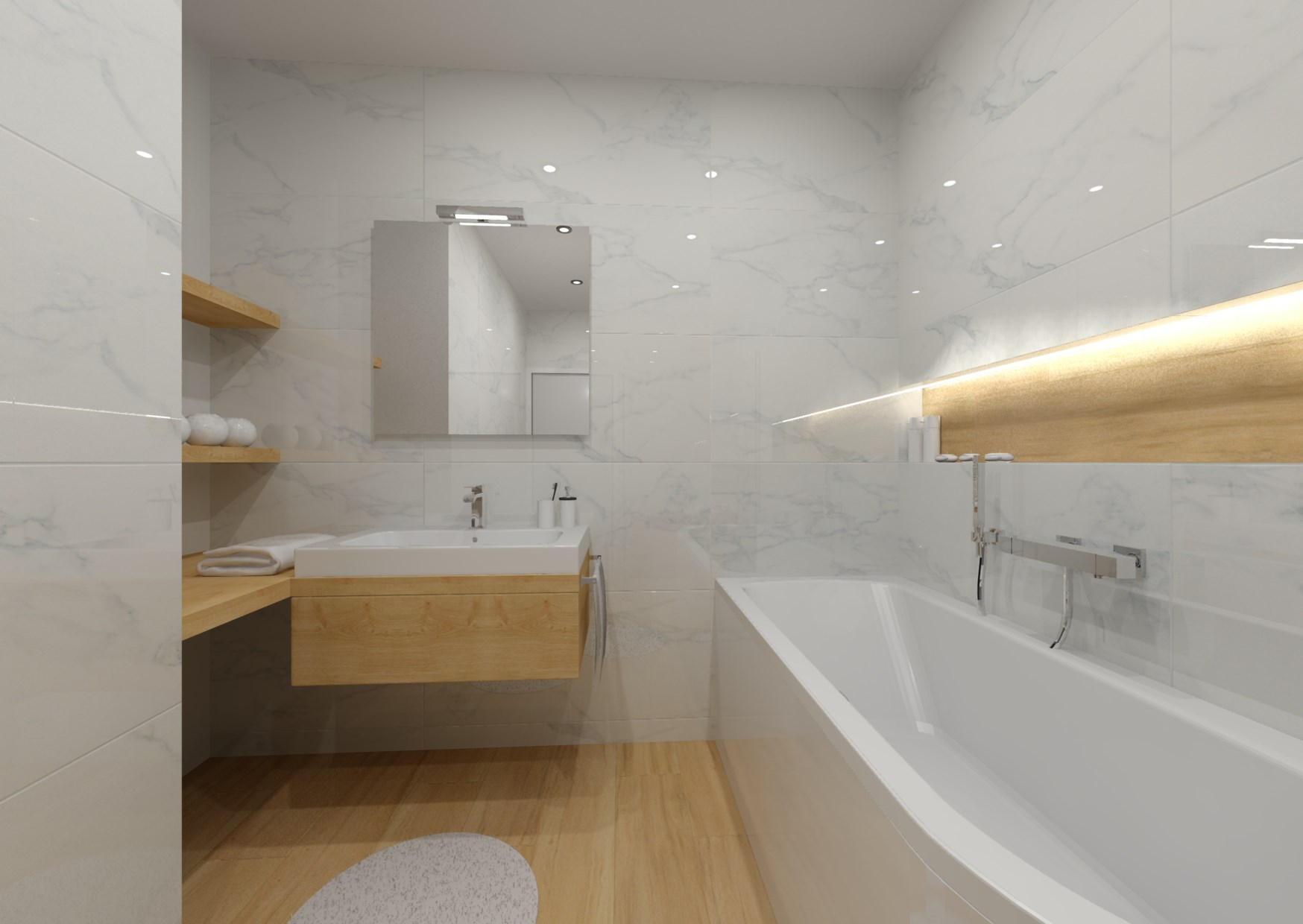 Návrh koupelny s nikou 3