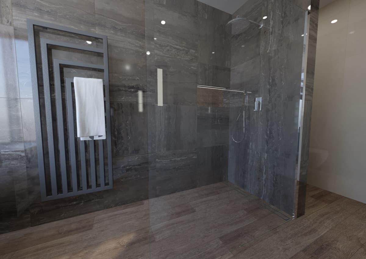 Návrh koupelny s vanou s výhledem do zeleně 3