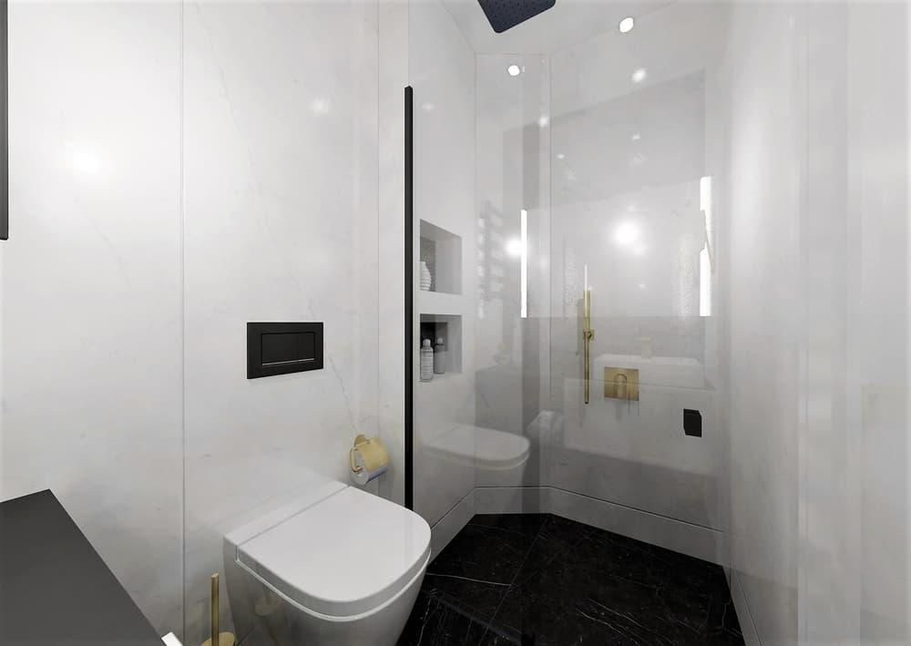 Návrh mramorové koupelny se zlatými doplňky 5