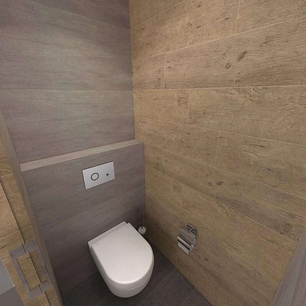 Návrh koupelny s chytře vyřešeným uspořádáním 5