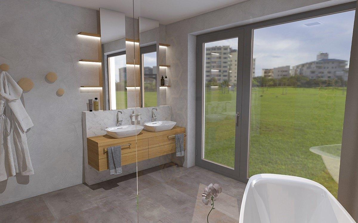Návrh koupelny s vanou a sprchovým koutem 3