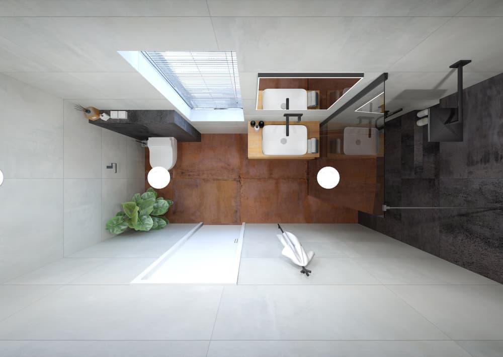 Návrh malé úzké koupelny 0