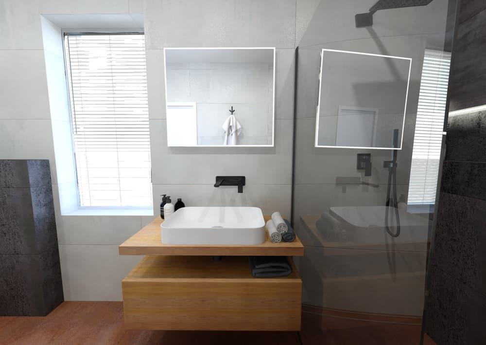 Návrh malé úzké koupelny 2