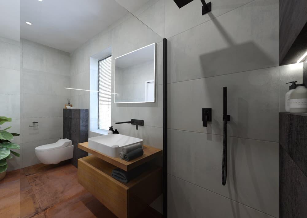 Návrh malé úzké koupelny 3