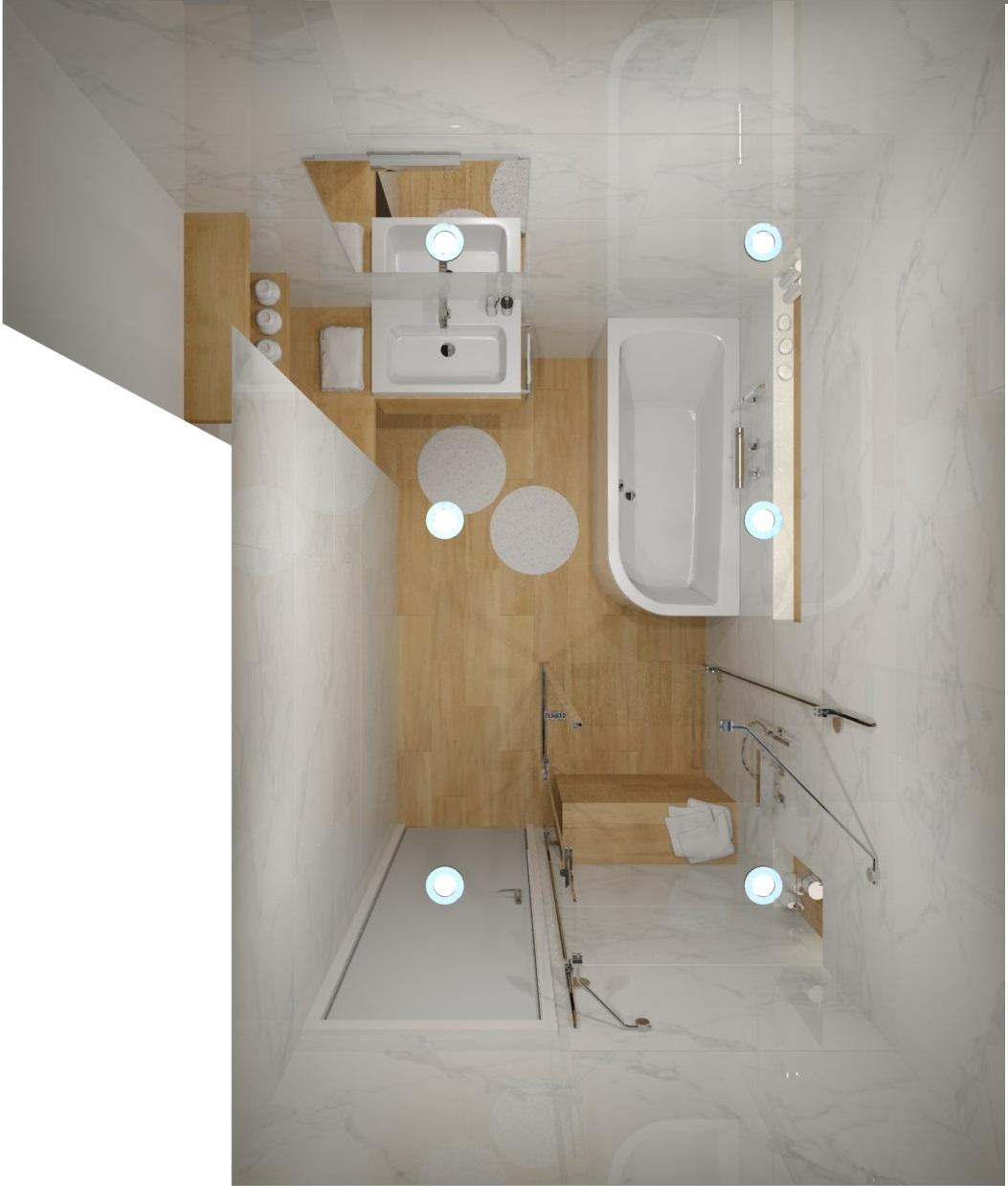 Návrh koupelny s nikou 1