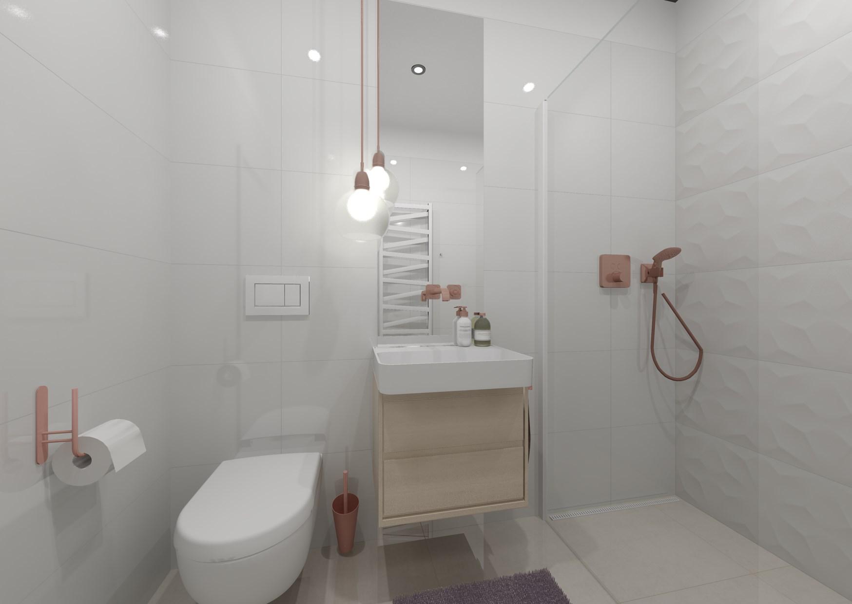 Návrh malé dámské koupelny 1