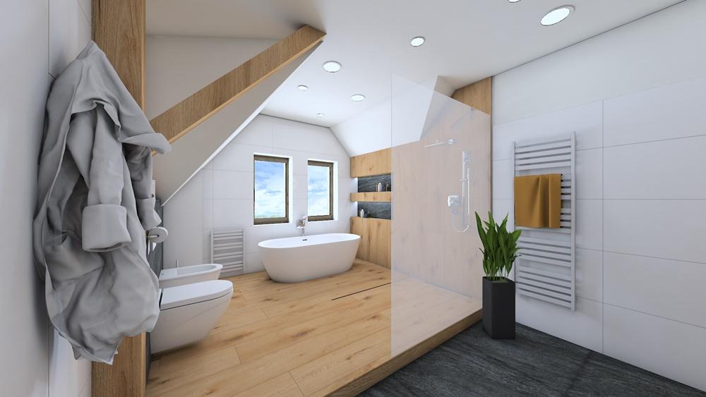 Návrh koupelny ve stylu wellness 1