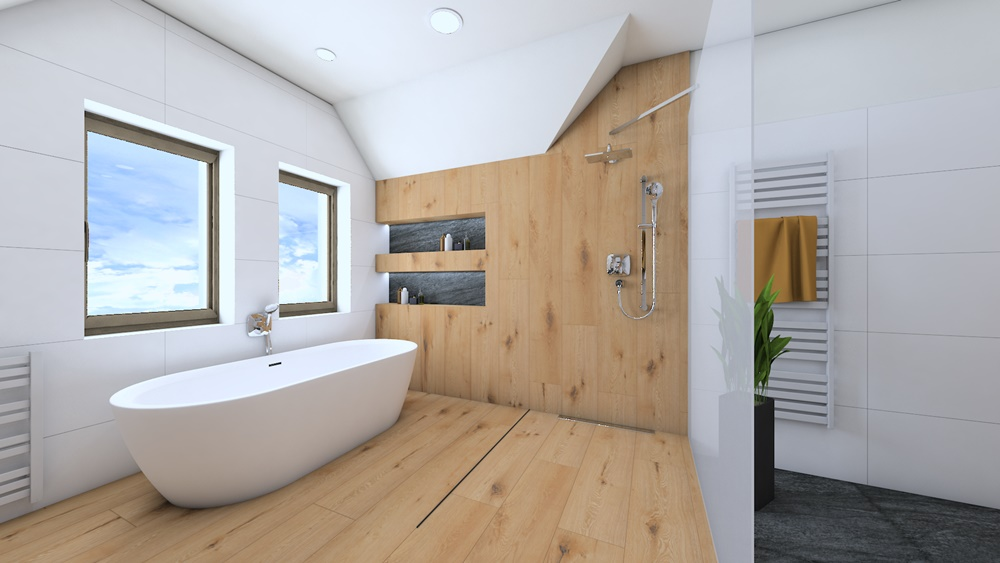 Návrh koupelny ve stylu wellness 2