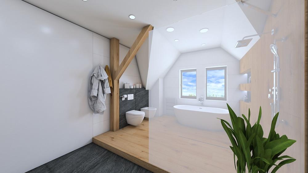 Návrh koupelny ve stylu wellness 3