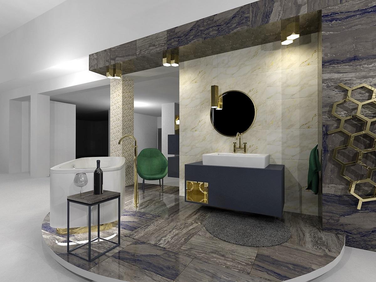 Návrh glamour koupelny 5