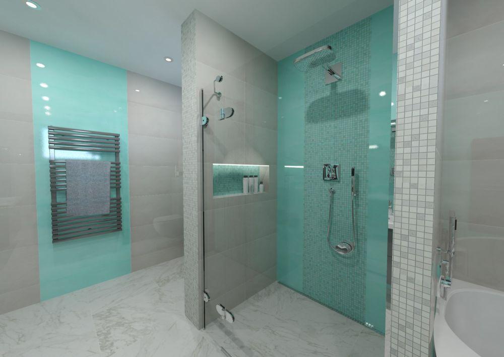 Návrh barevné koupelny 10