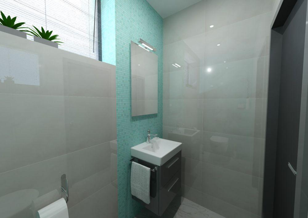 Návrh barevné koupelny 13