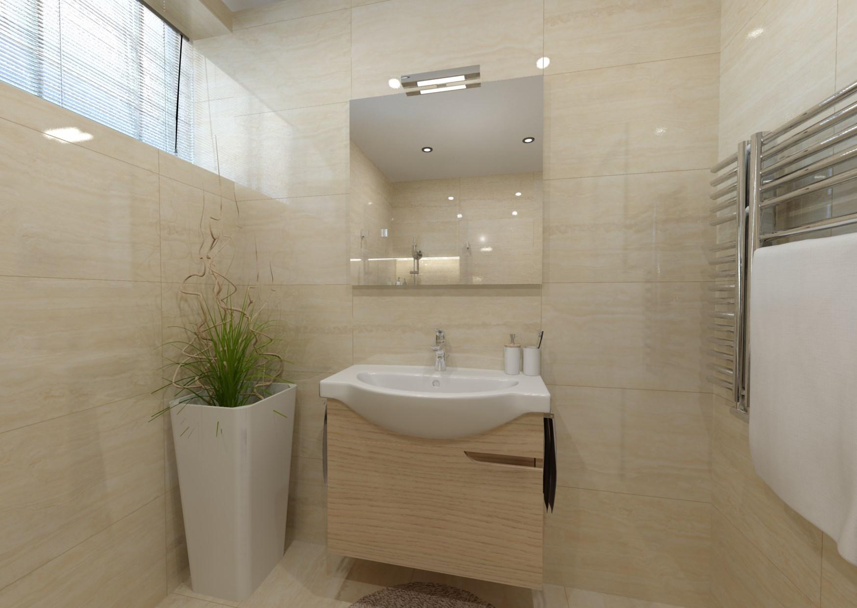 Návrh mramorové koupelny 1