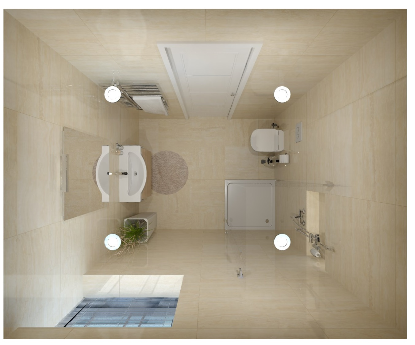 Návrh mramorové koupelny 4