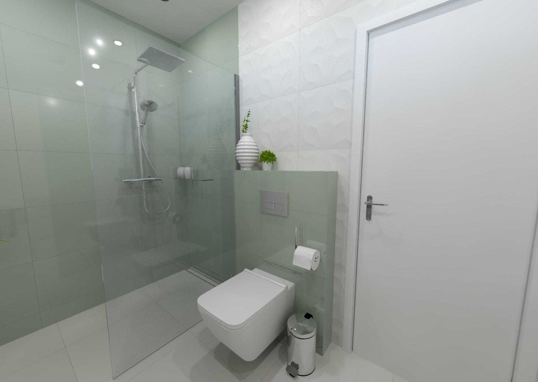 Návrh koupelny s 3D obklady 0