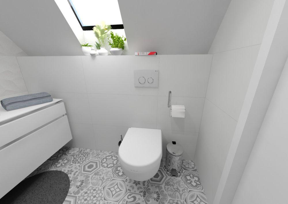 Návrh bílé koupelny 6