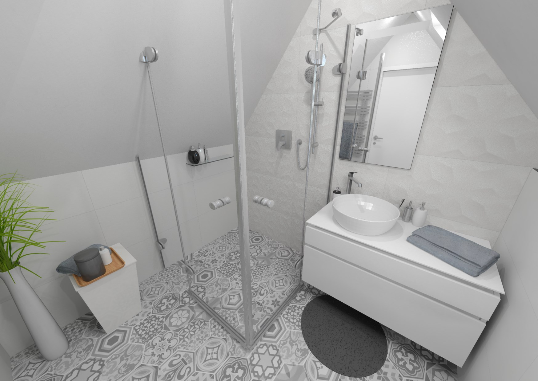 Návrh retro koupelny 3