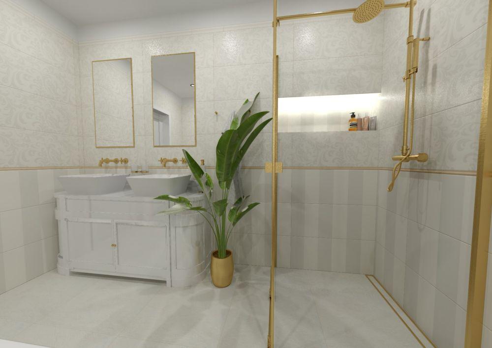 Návrh glamour koupelny 1