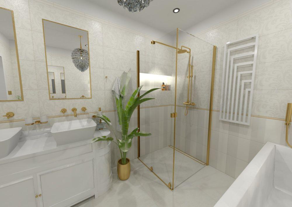 Návrh glamour koupelny 2