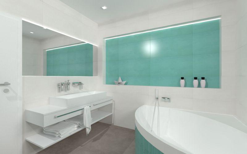 Návrh barevné koupelny 23
