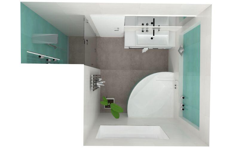 Návrh barevné koupelny 24