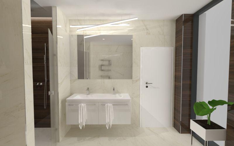 Návrh koupelny s dřevěným dekorem 15