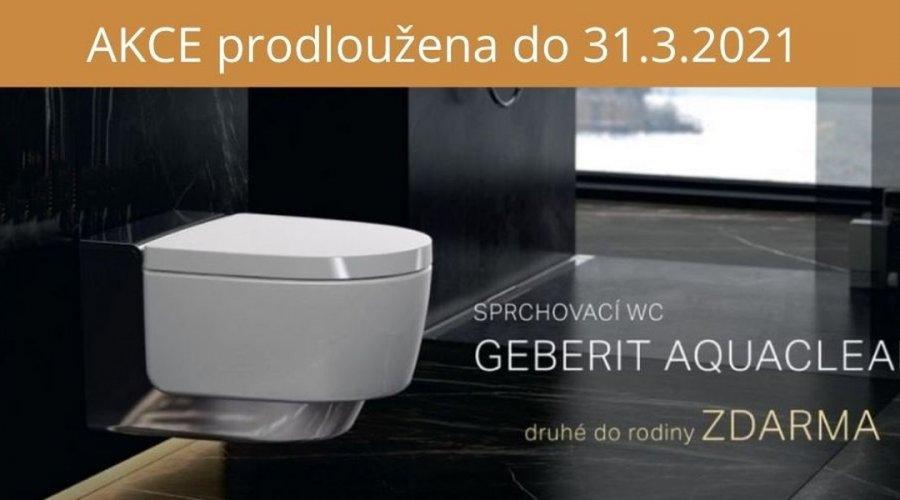 Sprchovací WC Geberit Aquaclean  Druhé do rodiny zdarma
