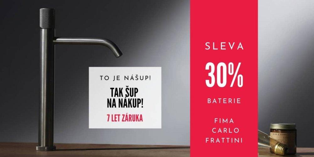 Koupelnové baterie Fima Carlo Frattini - AKČNÍ CENY a záruka 7 let