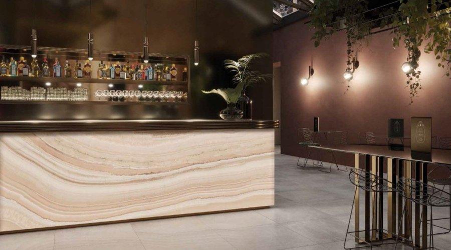 Prosvětlené velkoformátové keramické panely LUCE