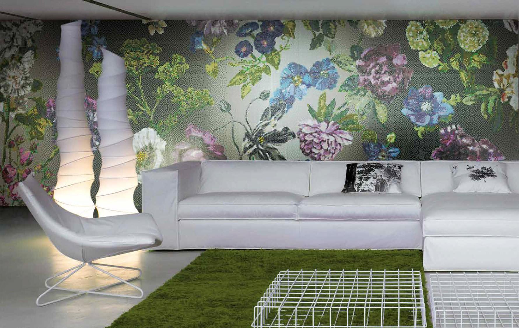 Designové skleněné mozaiky do interiéru
