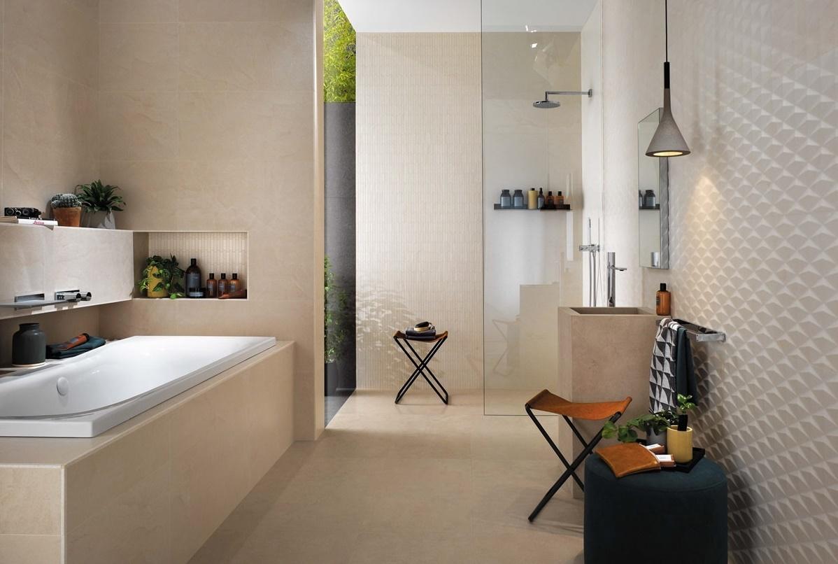 Béžová koupelna