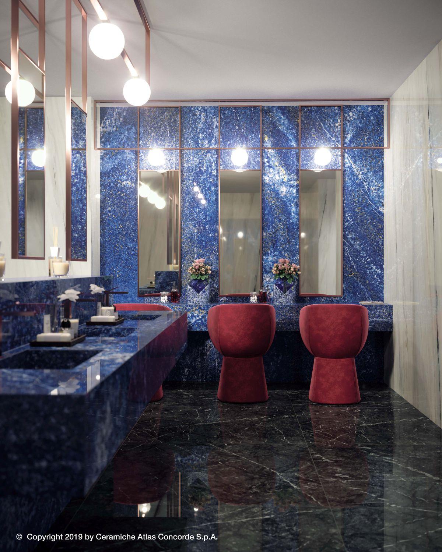Velkoformátová dlažba v koupelně 7