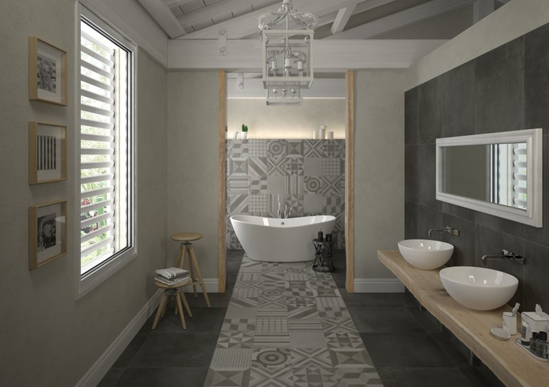Koupelna ve venkovském stylu 2