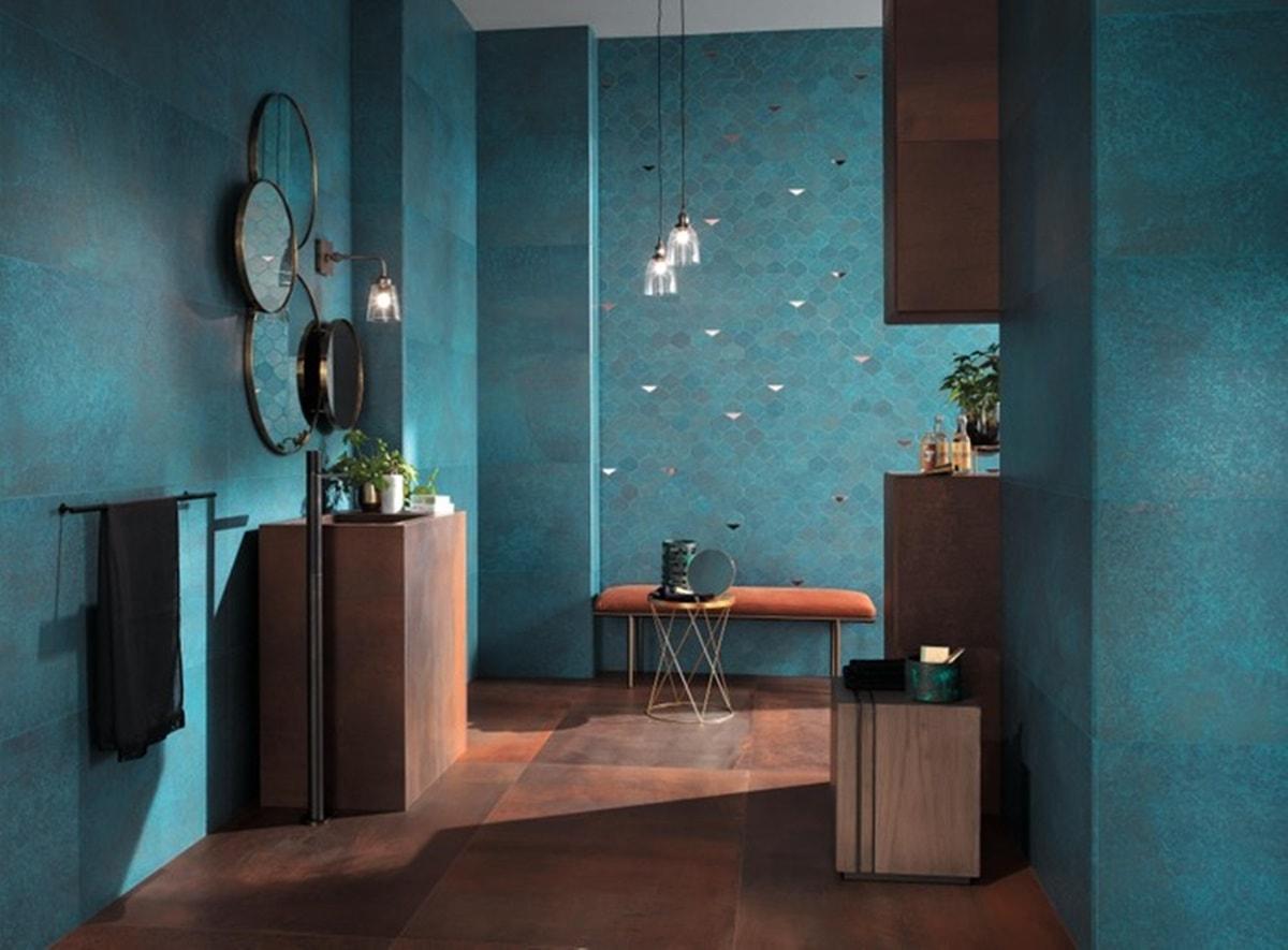 Obklady v metalické barvě v koupelně 5