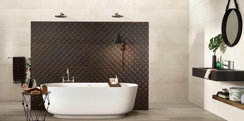 Obklady v metalické barvě v koupelně 10