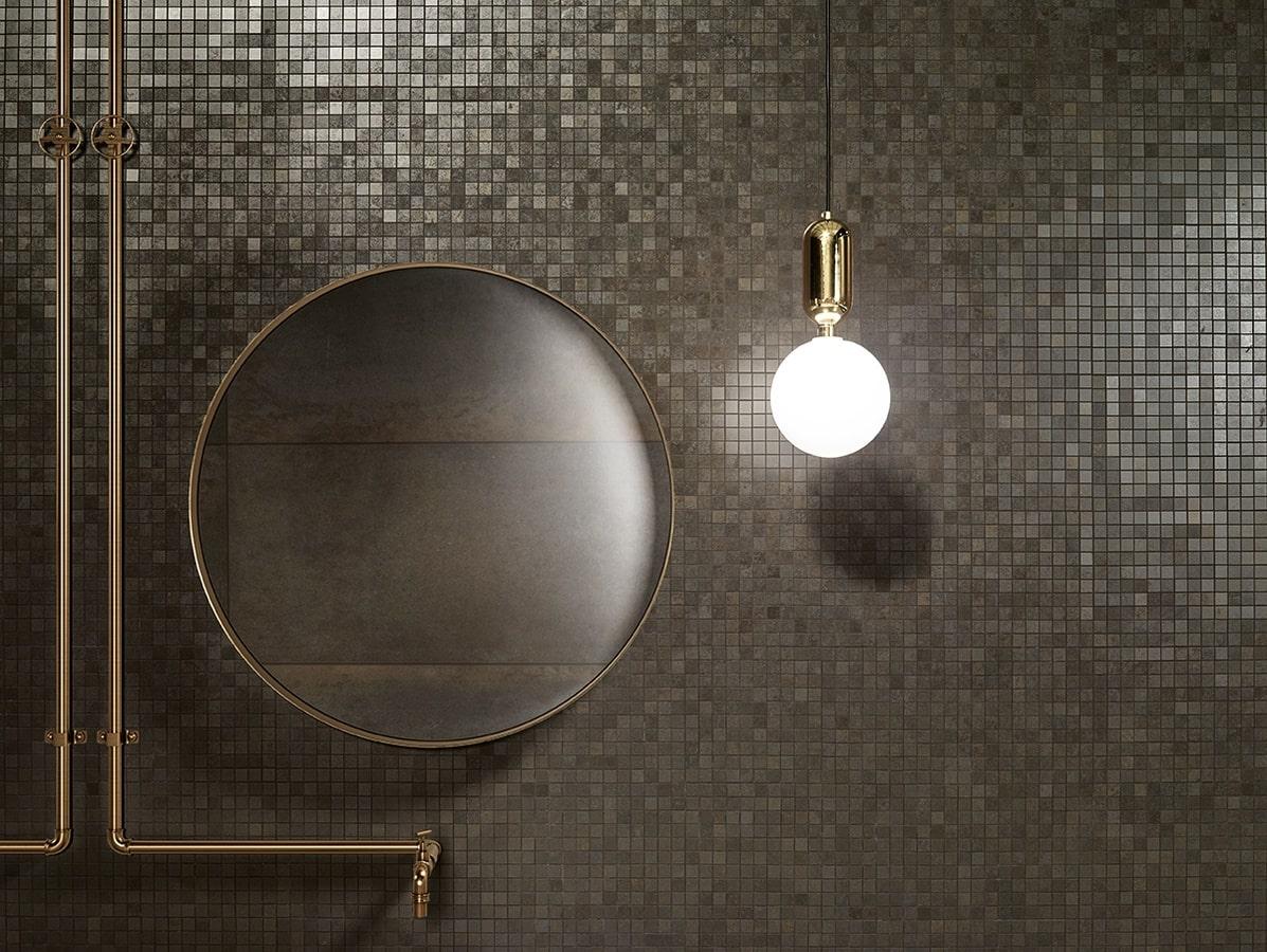 Obklady v metalické barvě v koupelně 16
