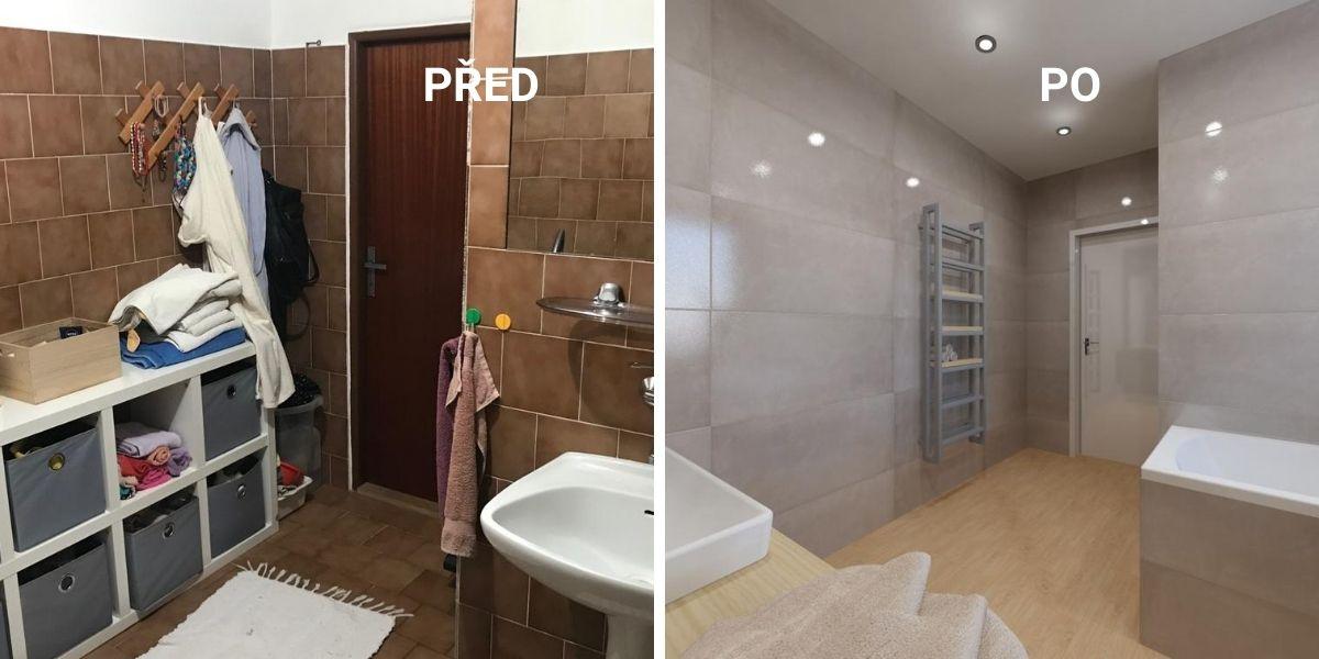 Proměna koupelny aneb PŘED a PO 3