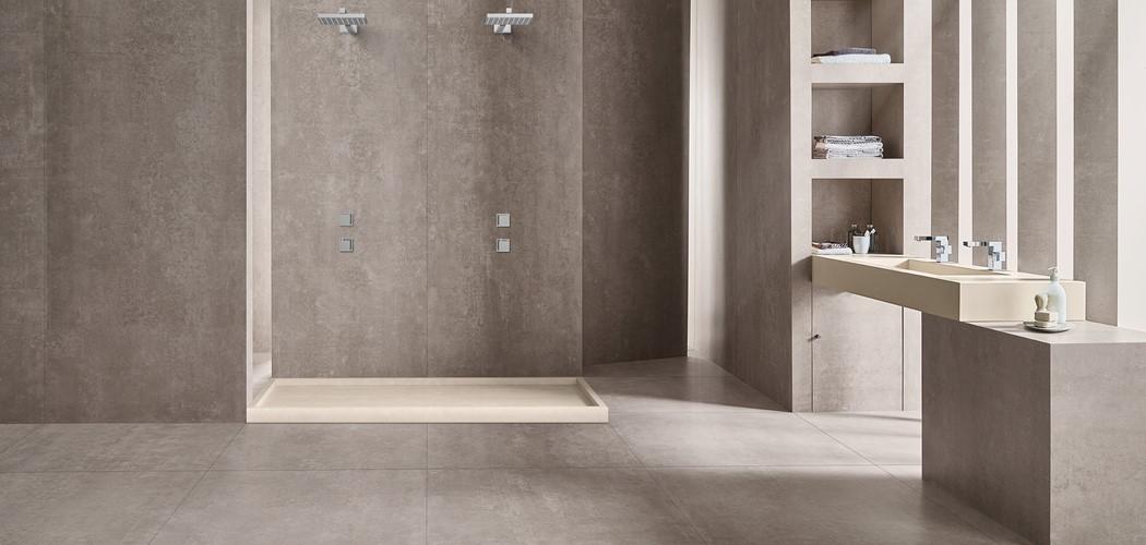 Velkoformátová dlažba v koupelně 19