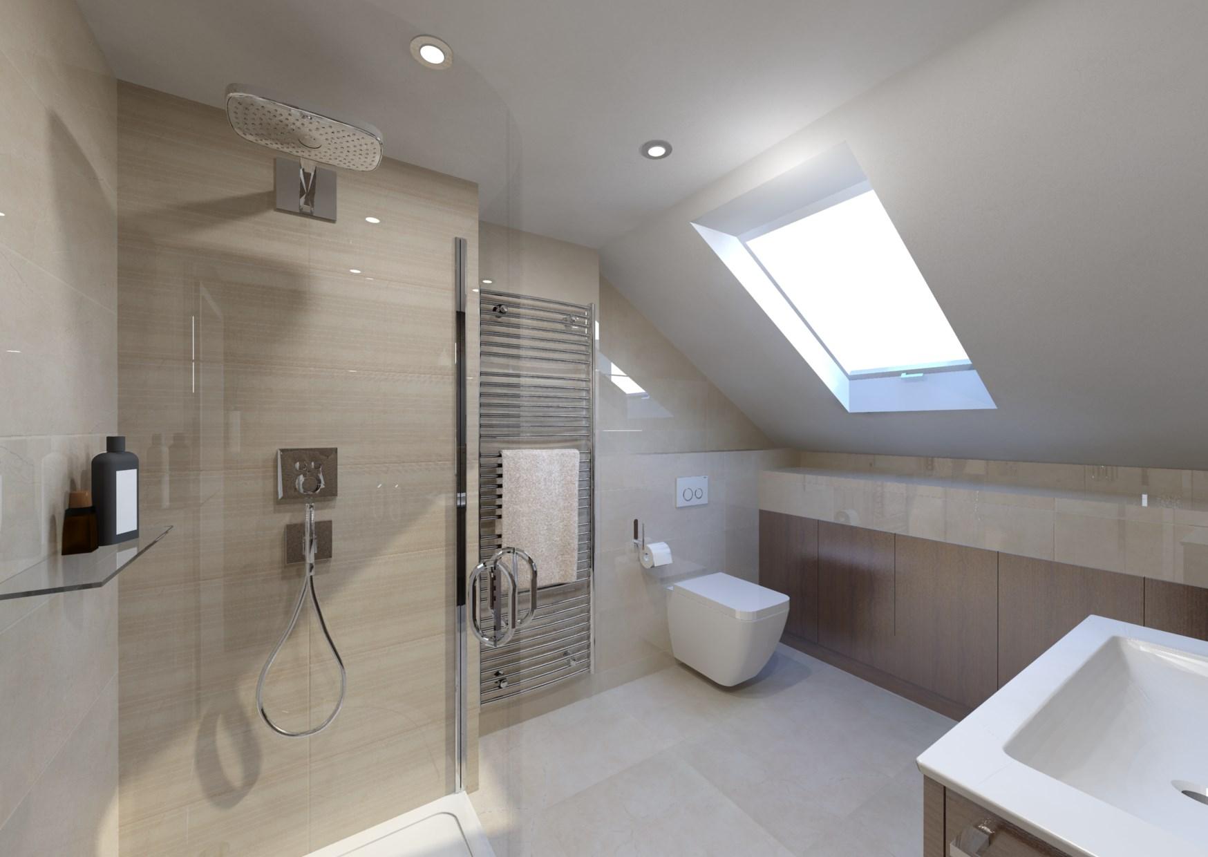 Podkrovní koupelna 2