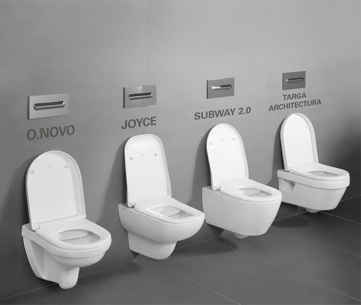 Varianty toalet Direct Flush