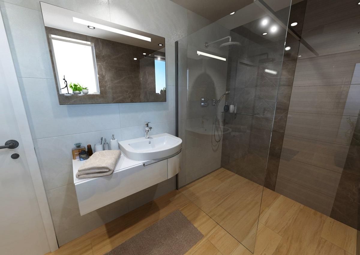 Vizualizace malé koupelny