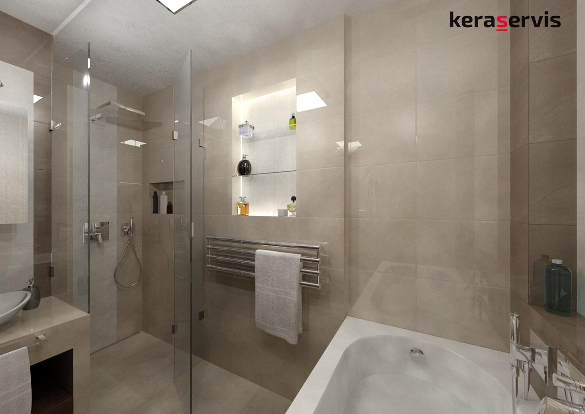 Vizualizace malé koupelny - umyvadlo